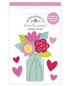 Love You Bunches Doodle-Pops - Love Notes - Doodlebug Design