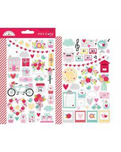 Love Notes Mini Icons Stickers - Doodlebug Design