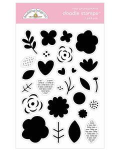 I Pick You Doodle Stamps - Love Notes - Doodlebug Design