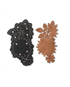 Floral Necklace sizzix leather die