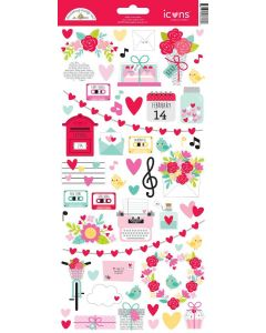 Love Notes Icon Stickers - Doodlebug Design