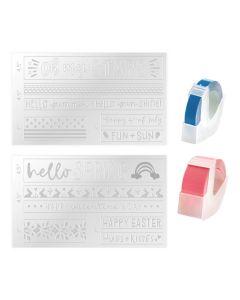 Spring/Summer Label Embossing Folder - Mini Evolution - We R Memory Keepers