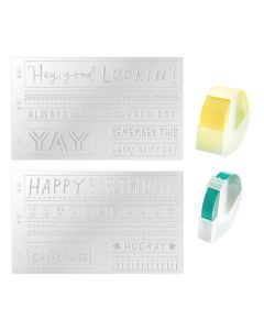 Everyday Label Embossing Folder - Mini Evolution - We R Memory Keepers