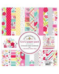 """Love Notes 12"""" x 12"""" Paper Pack - Doodlebug Design"""