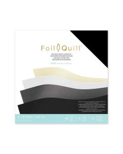 Smooth Neutrals Paper Stack - Foil Quill - We R Memory Keepers
