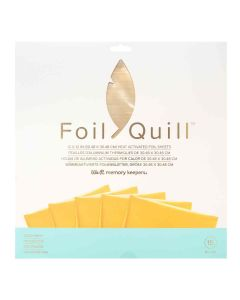 """Gold Finch Foil Sheets 12"""" x 12"""" - Foil Quill - We R Memory Keepers"""