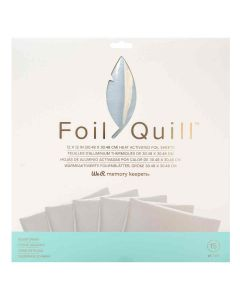 """Silver Swan Foil Sheets 12"""" x 12"""" - Foil Quill - We R Memory Keepers"""