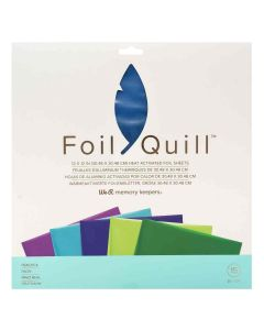 """Peacock Foil Sheets 12"""" x 12"""" - Foil Quill - We R Memory Keepers"""