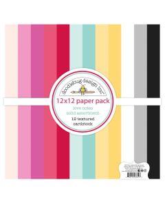 "Love Notes Textured Cardstock 12"" x 12"" Assortment Pack - Doodlebug Design"