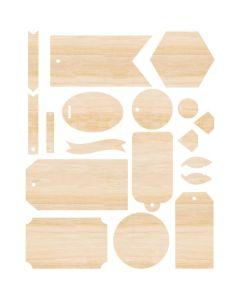 Wood Veneer Ephemera - Singe Quill - We R Memory Keepers