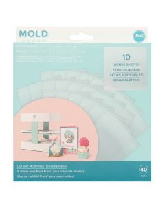 Mold Press Clear Plastic Sheets Value Pack (40 Sheets) - We R Memory Keepers*