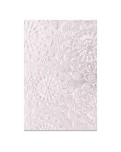 Doily 3-D Textured Impressions Embossing Folder - Sizzix *