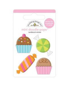 Sweet Celebration Mini Doodle-Pops 3D Stickers - Hey Cupcake - Doodlebug*