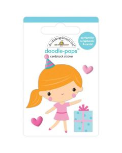 Party Girl Doodle-Pops 3D Stickers - Hey Cupcake - Doodlebug*