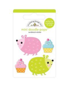 Hedge Hugs Mini Doodle-Pops 3D Stickers - Hey Cupcake - Doodlebug*