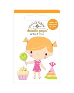 Birthday Girl Doodle-Pops 3D Sticker - Hey Cupcake - Doodlebug*