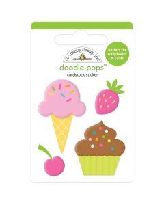 Sweet Treats Doodle-Pops 3D Sticker - Hey Cupcake - Doodlebug*