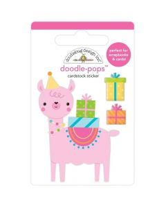 Party Llama Doodle-Pops 3D Stickers - Hey Cupcake - Doodlebug*