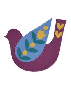 Folk Bird Bigz Plus Die - Olivia Rose - Sizzix