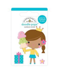 Birthday Princess Doodle-Pops 3D Stickers - Hey Cupcake - Doodlebug*
