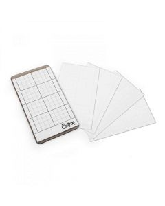 """Sizzix Accessory - Sticky Grid Sheets, 2 1/2"""" x 4 1/2"""", 5 Pack inspired by Tim Holtz"""