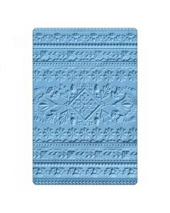 Folk Art 3D Impressions Embossing Folder - Courtney Chilson - Sizzix