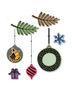 Hanging Ornaments Framelits Dies w/ Stamps - Jordan Caderao - Sizzix