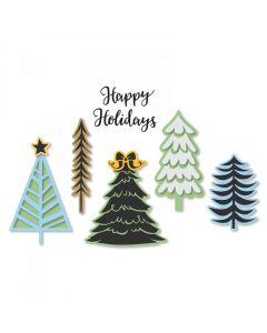 Winter Trees Framelits Dies w/ Stamps - Jordan Caderao - Sizzix