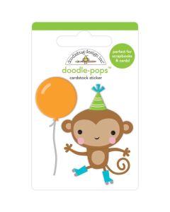 Monkey Business Doodle-Pops 3D Stickers - Party Time - Doodlebug