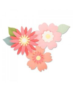 Bold Blossoms Bigz Die - Laura Kate - Sizzix*