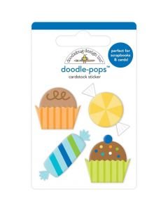 Party Favors Doodle-Pops 3D Stickers - Party Time - Doodlebug*