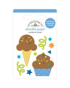 Cake & Ice Cream Doodle-Pops 3D Stickers - Party Time - Doodlebug*