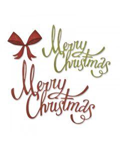 Christmas Ribbon Thinlits Die Set - Tim Holtz - Sizzix