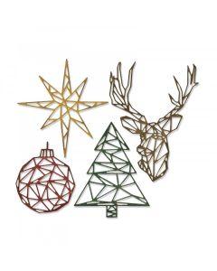 Geo Christmas Thinlits Die Set - Tim Holtz - Sizzix