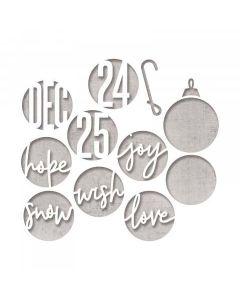 Christmas Circle Words Thinlits Die Set - Tim Holtz - Sizzix