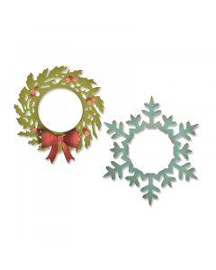 Wreath & Snowflake Thinlits Die Set - Tim Holtz - Sizzix