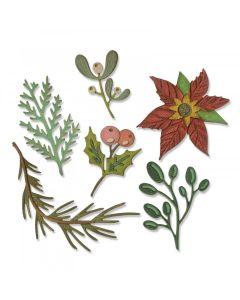 Funky Festive Florals Thinlits Die Set - Tim Holtz - Sizzix