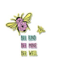 Bee Well Framelits Dies w/ Stamps - Let It Bloom - Jen Long - Sizzix