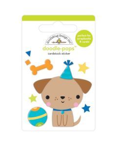 Yappy Birthday Doodle-Pops 3D Stickers - Party Time - Doodlebug