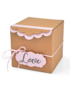 Box, Gift w/ Scallop Edges & Label ScoreBoards XL Die - Eileen Hull - Sizzix *