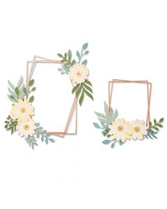 Geo Floral Frame Thinlits Dies - Lisa Jones - Sizzix *