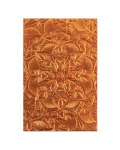 Floral Mandala 3-D Textured Impressions Embossing Folder - Kath Breen - Sizzix*