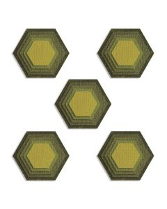Stacked Tiles, Hexagons Thinlits Dies - Tim Holtz - Sizzix *