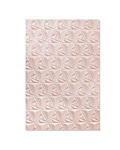 Geometric Lattice 3-D Textured Impressions Embossing Folder - Jessica Scott - Sizzix*