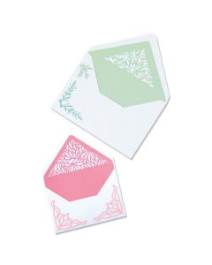 Liners Botanical Envelope Thinlits Dies - Jen Long - Sizzix*