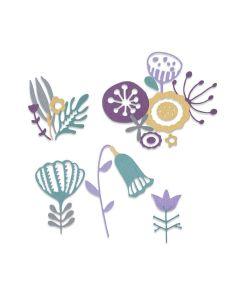 Folk Florals Thinlits Dies - Jenna Rushforth - Sizzix*
