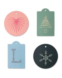 Stitched Tags Thinlits Dies - Josh Griffiths - Sizzix*