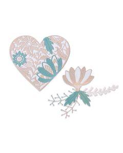 Bold Floral Heart Thinlits Dies - Jenna Rushforth - Sizzix