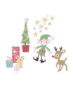 Santa's Workshop Thinlits Dies - Pete Hughes - Sizzix*