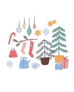 Christmas Cheer Thinlits Dies - Sizzix - Olivia Rose*